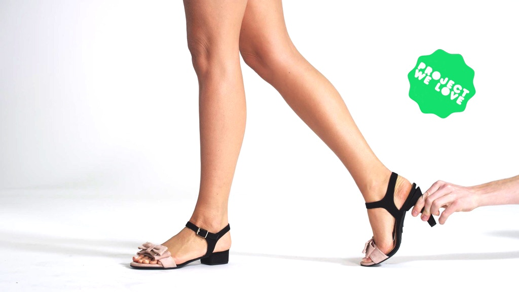 Shoes transform from flats to high heels in seconds project video thumbnail