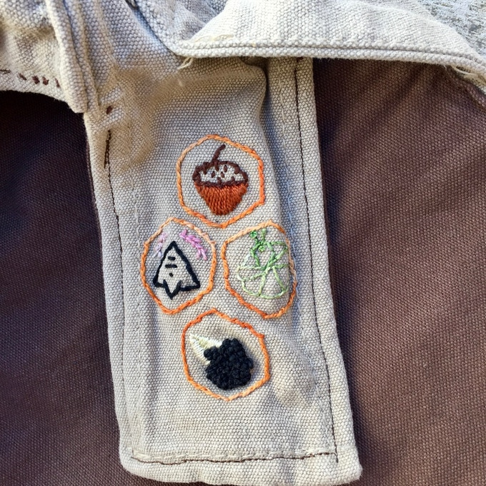 Weather flap features custom Witch Stitches for protection