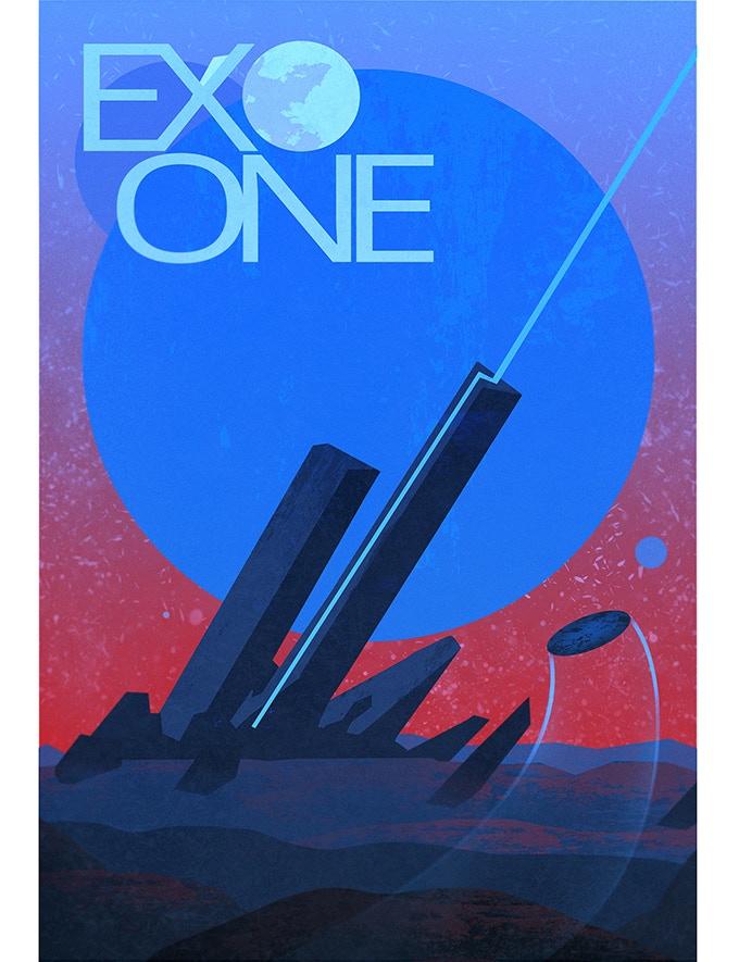 Tim's EXO ONE poster designed for EGX Rezzed
