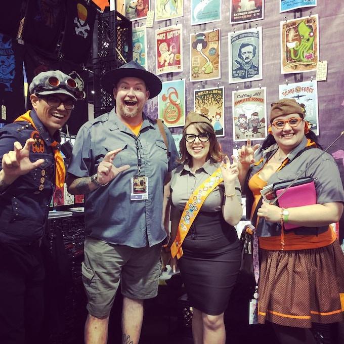 Scouts Vinny, Ron, Megan & Melissa