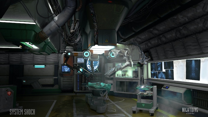 Concept environment art of the Surgery Room by Robert Simon.
