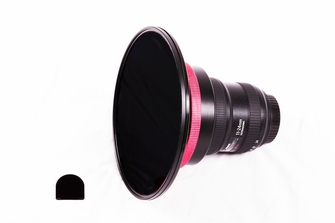 Left: Aurora CR filter, Right: 186mm front mount filter