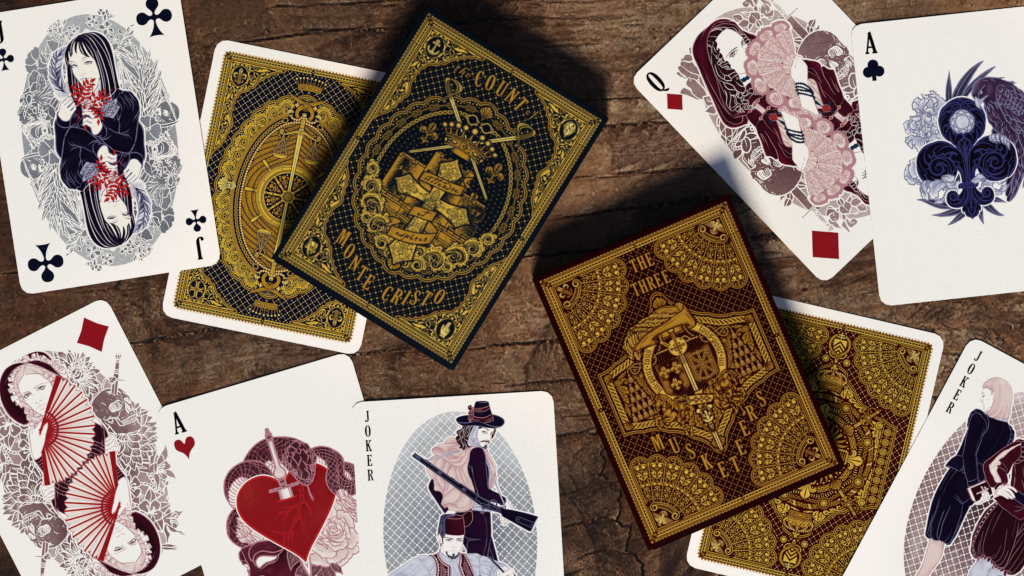 Tribute to Alexandre Dumas Classics: The Count of Monte Cristo and The Three Musketeers Playing Cards; 20-day campaign