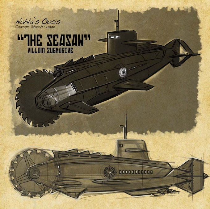SeaSaw Villain Submarine