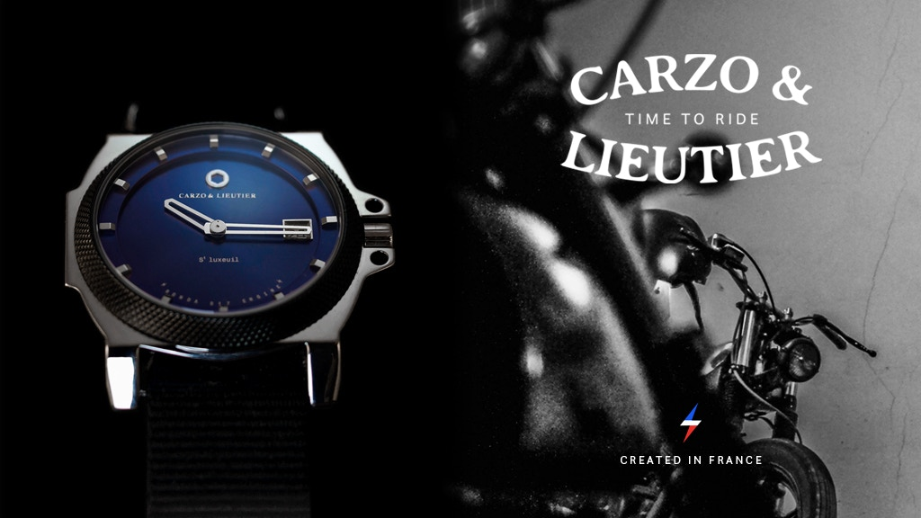 CARZO & LIEUTIER Motorcycle Inspired Watch Created in France project video thumbnail