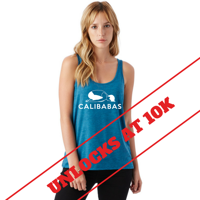 Love our Logo Tank in Peacock Heather