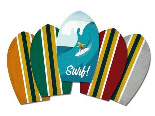 A selection of the player surf boards.