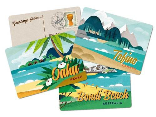 """Some of the beach """"postcards""""."""
