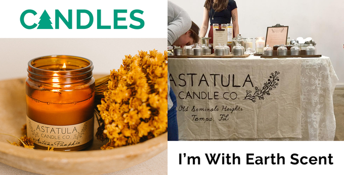 A special curated I'm With Earth candle!