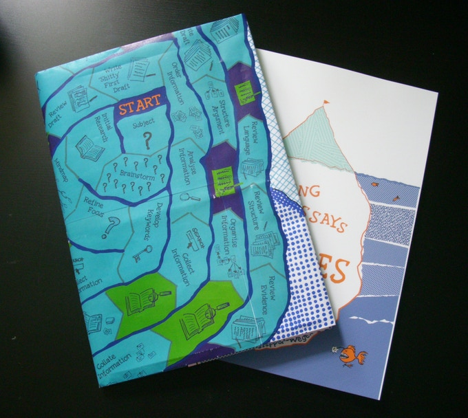 see, folded right even the mock-up works as a dustjacket for the book!