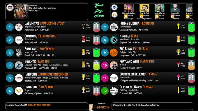 Digital Pour Example Screenshot