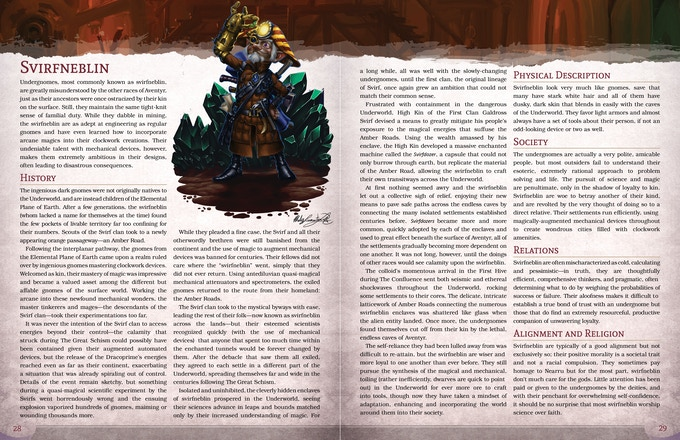 Create a svirfneblin and explore the realm of the deep gnomes!