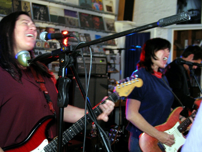 The Breeders performing at Other Music