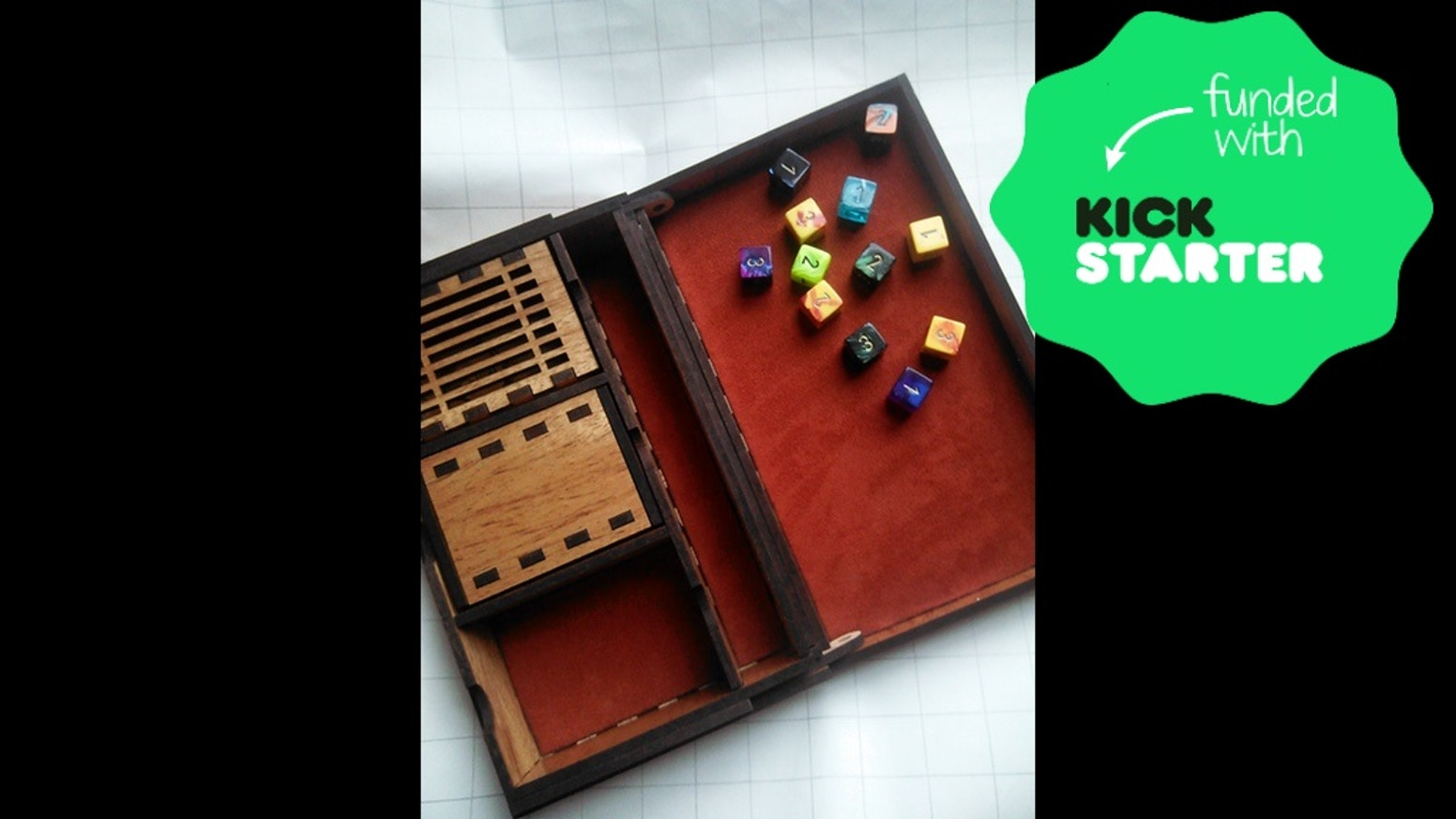 Boxes meant to organize your nerdy bits. Cards, dice, pencils, minis, dice jails: all your gaming essentials.