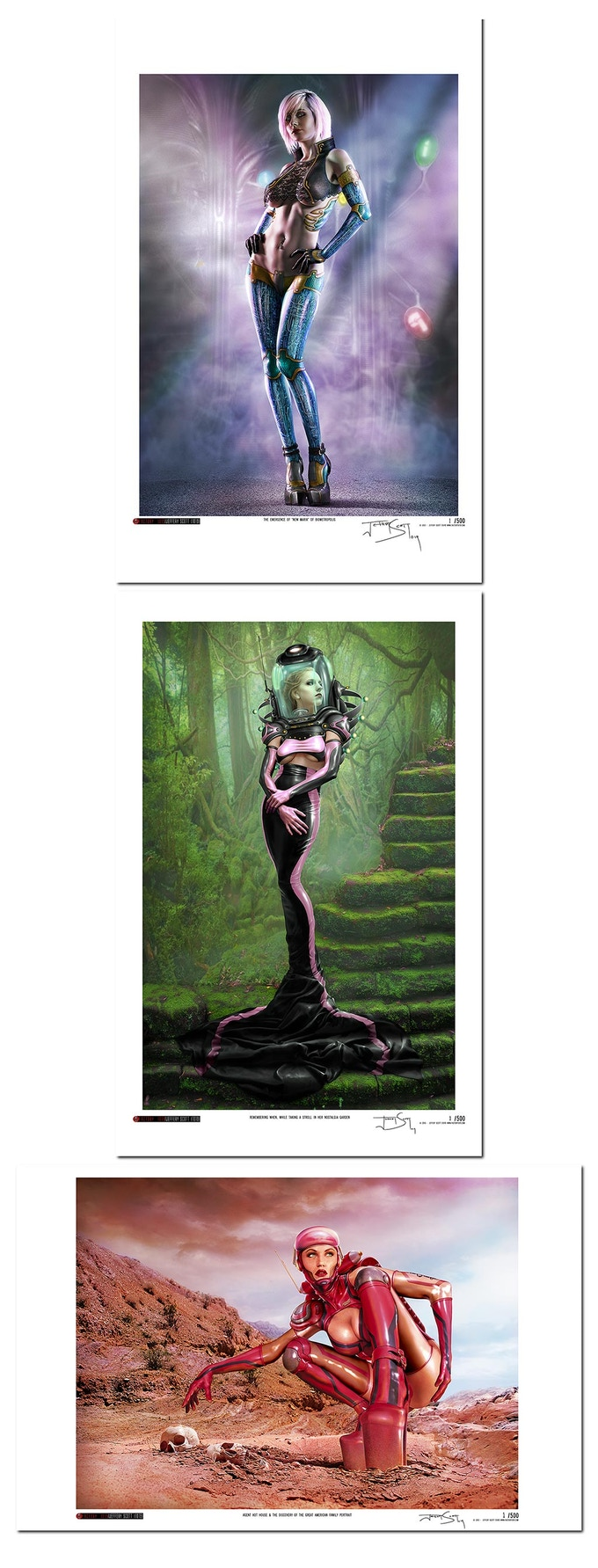 """Add This Set of Three Signed & Numbered 11""""x17"""" Prints To Any Reward By Adding $50 To your Pledge"""