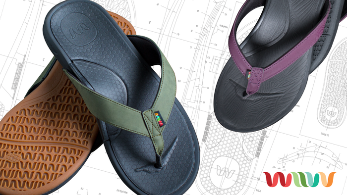 Custom Fit Sandals that are digitally mapped from your smartphone. Preorder today on Indiegogo.