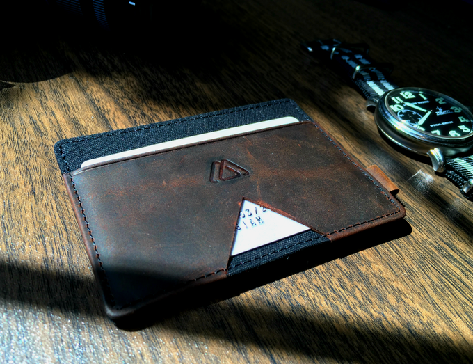 This is Mark after 6 weeks of use. Each wallet will have its unique patina from its user.
