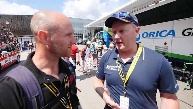 Chatting with Dan Jones from Orica Bike Exchange.
