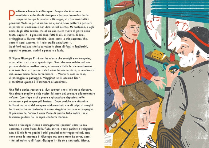 An example page of the Italian version of the book
