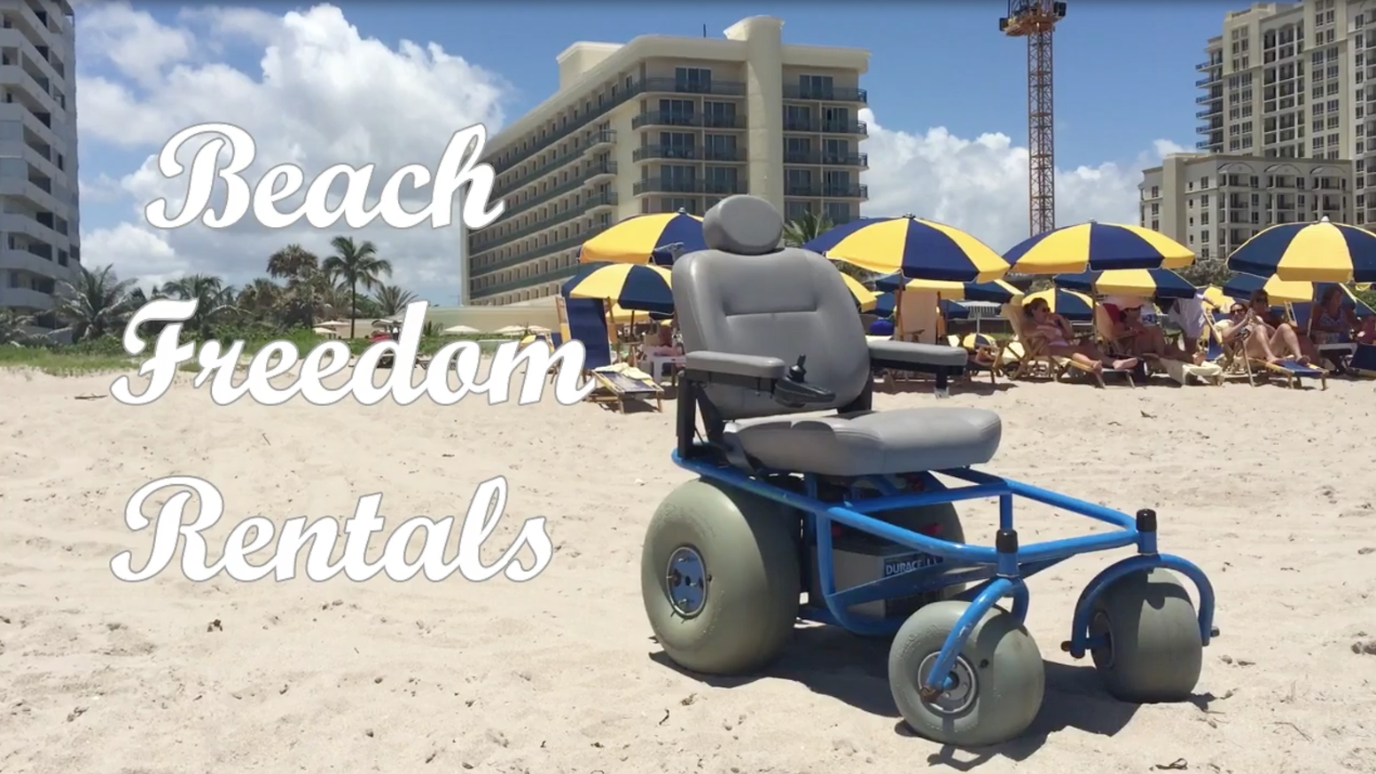 Motorized Beach Wheelchair Service By Beach Freedom