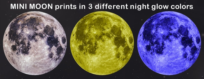 Note: Mini moon is rechargeable with any light source and can glow in the dark for hours.
