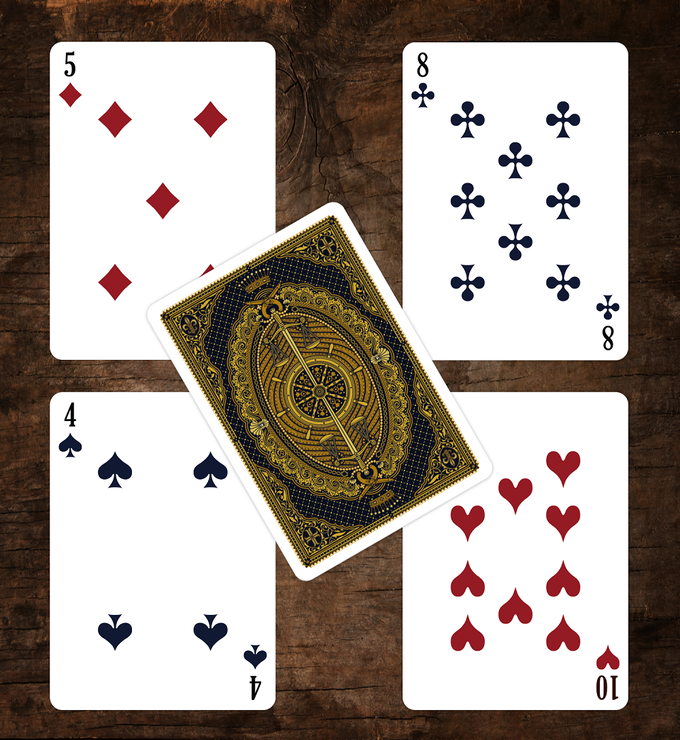 The Count of Monte Cristo Playing Cards Numbers