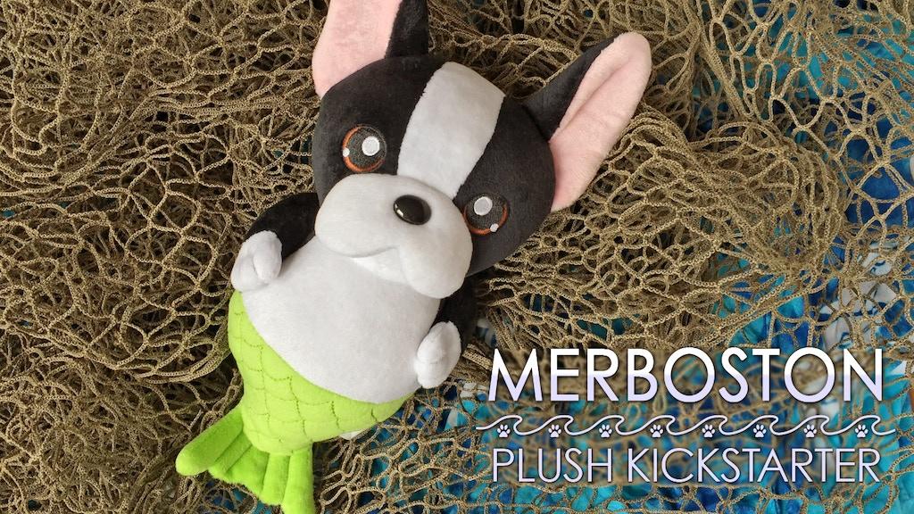 Boston Terrier Mermaid Cute Plush Toys project video thumbnail