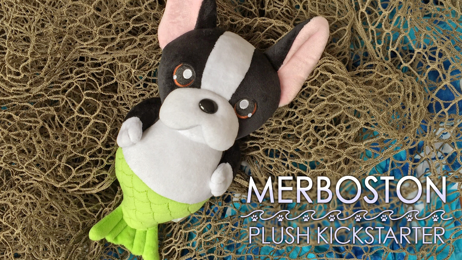 Merboston is an energetic, goofy merdog who is sure to make you smile. Help bring this plush to life by adopting a Merboston!