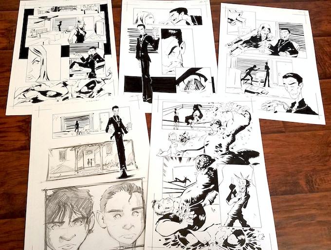 Lucha Underground Comics Original Art (Dario Cueto/Matanza)