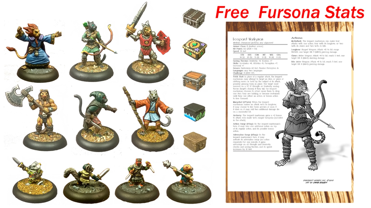 Dungeon Scenery & Anthropomorphic miniatures 28mm by Johnny
