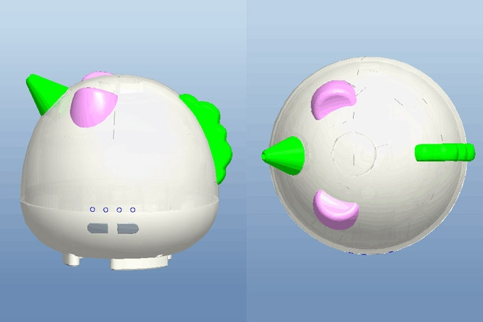 Elodie Unicorn Diffuser 3D Prototype