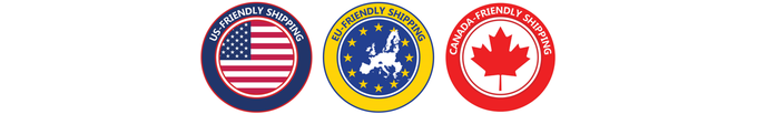 Customs & Duty Free Shipping in US, EU and CA