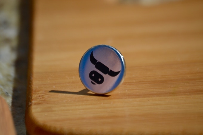 ** Limited Edition polished Grill Pin, production Pinz will have a stamped logo and satin finish