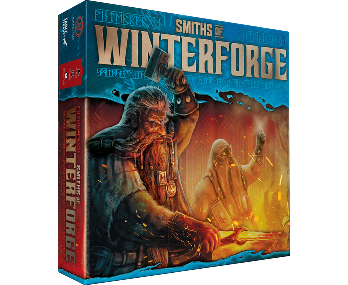 A competitive strategy game of Dwarven blacksmithing for 2 to 5 player, set in the fiery heart of the mighty Winterforge mountain.