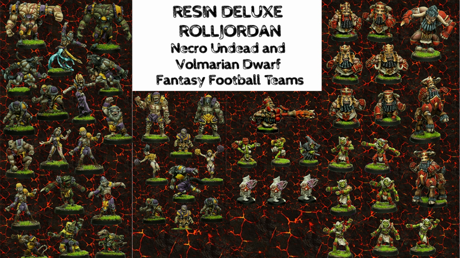 Bringing 2 more of the Rolljordan line of Fantasy Football teams in complete teams with sideline figures in affordable resin.