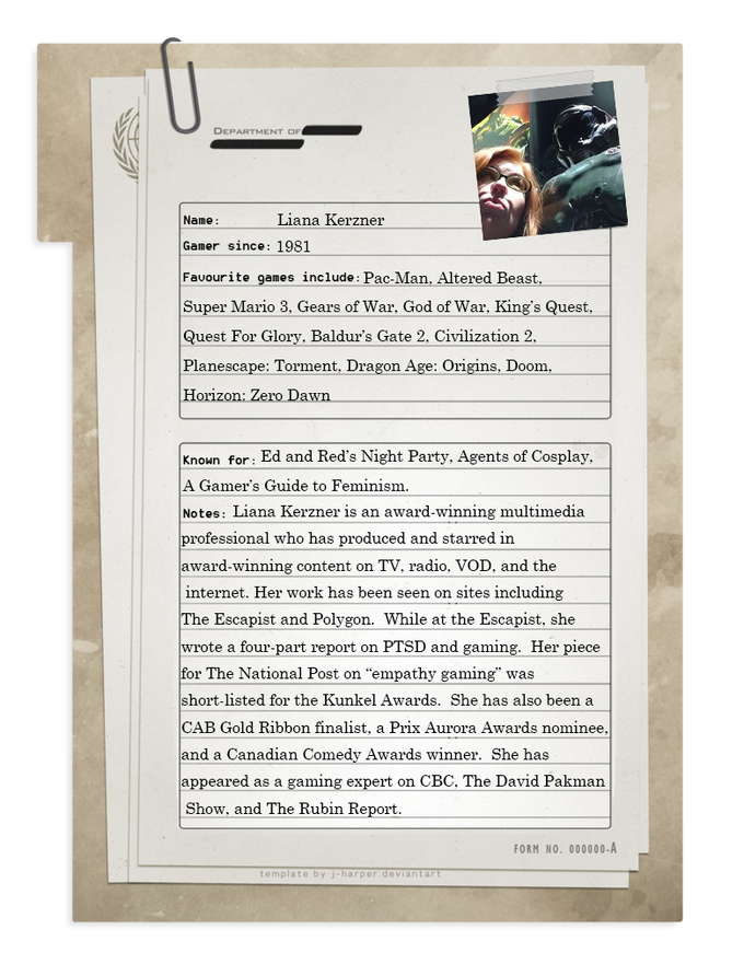 (Thanks to J. Harper for the dossier template)