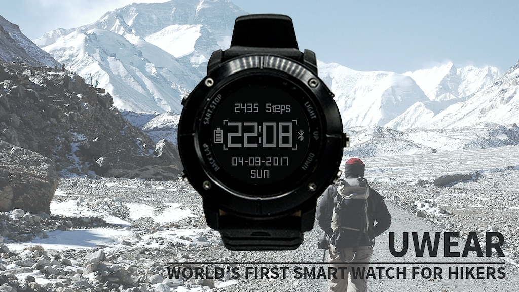 UWear - Powerful and Affordable Smart Watch for Hikers project video thumbnail