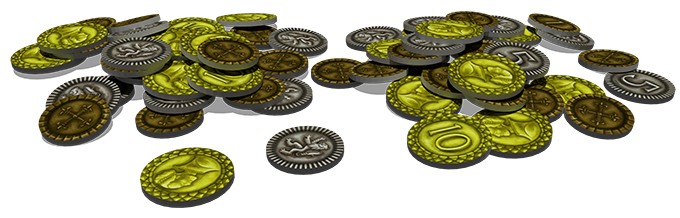 3D render image of coins. Click for larger view.