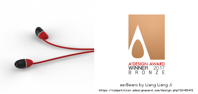 earBeans by allocacoc has been honored with the famed Bronze A' Design Award in Digital and Electronic Devices Design Competition Category