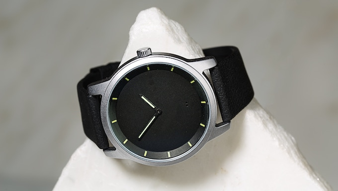 Durable stainless steel case.