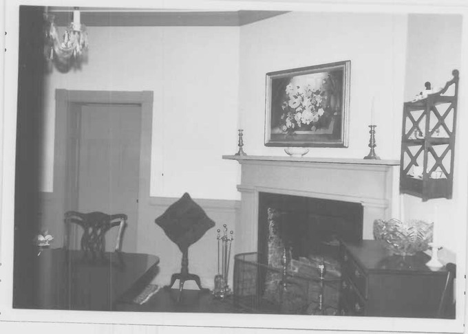 One of the many rooms with fireplace