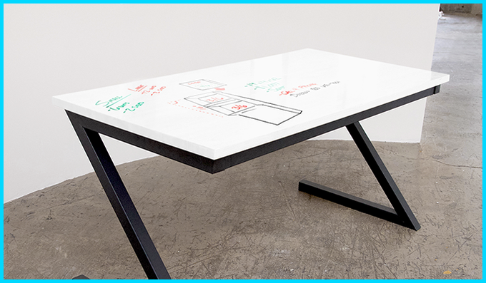 Writeydesk The Smudge Proof Dry Erase Desk By