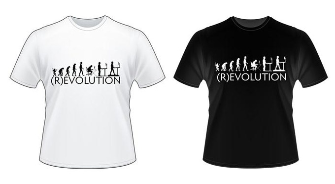 Get these hip ergonomic t-shirts with a mere $25 donation!