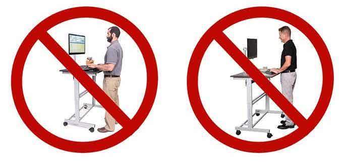 For years, standing desk ads have promoted improper arm & wrist ergonomics