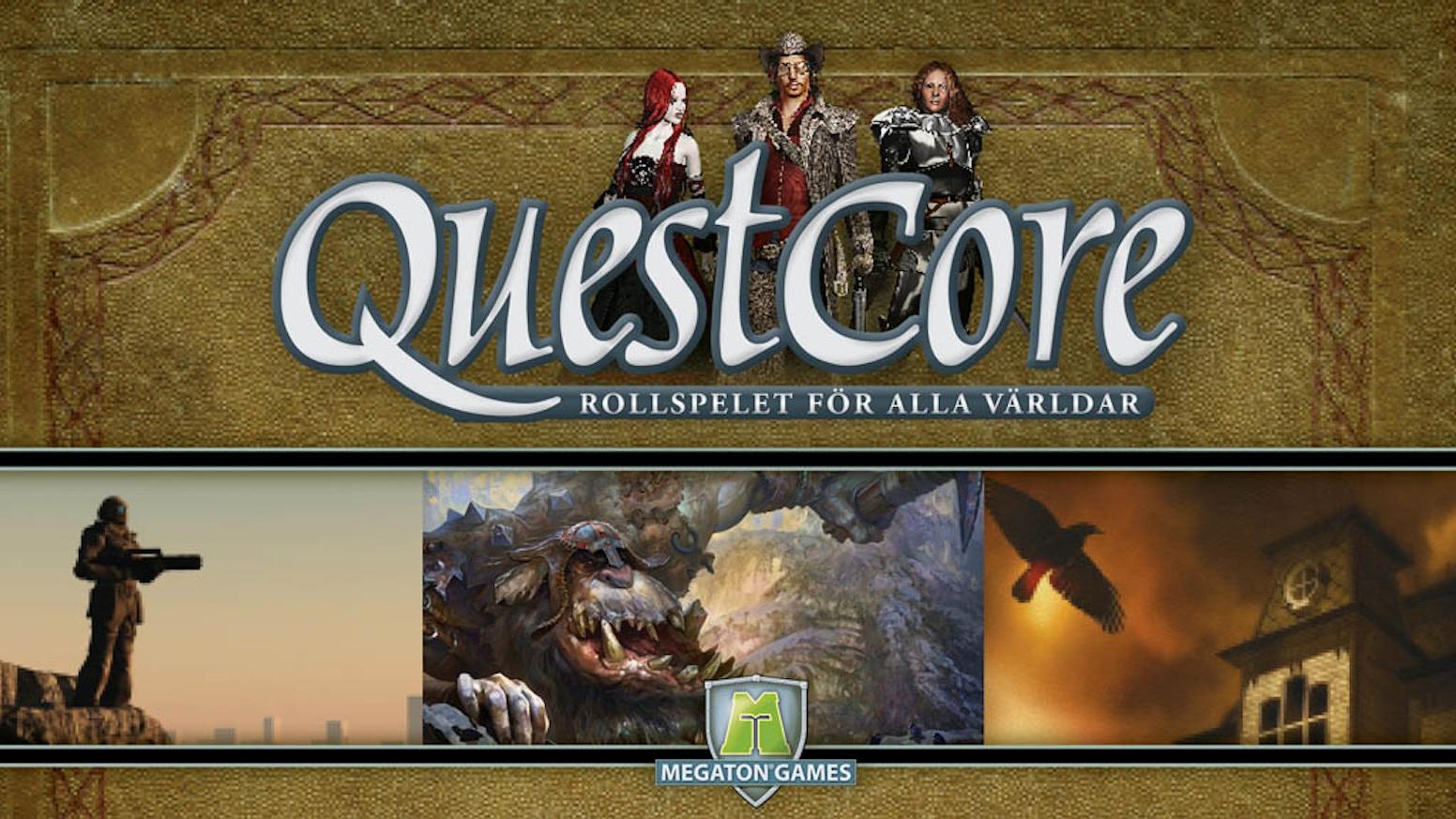 QuestCore är ett smart rollspelssystem för alla dina berättelser!