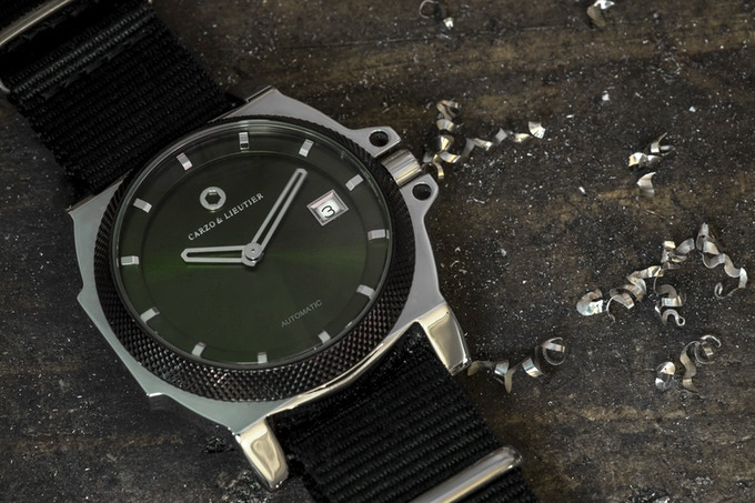 St Luxeuil Automatic. Scarab Green & Silver