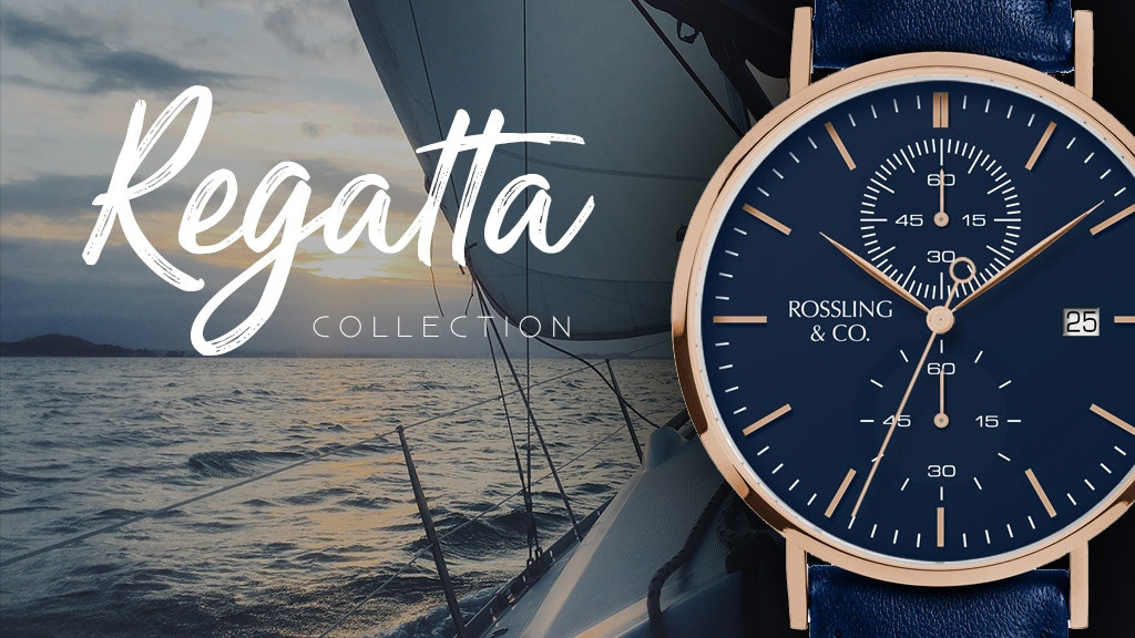 The Rossling & Co. Regatta Chronograph Watch Collection project video thumbnail