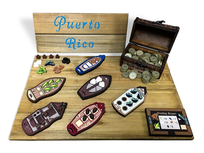 Puerto Rico (boats, trading house, resources, and coins)