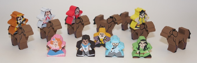 Colt Express (Character Meeples and Horses)