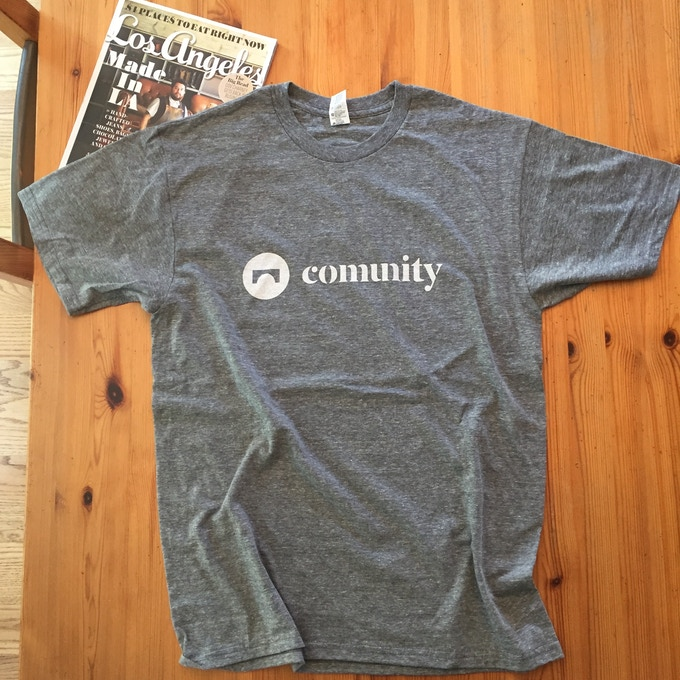The most excellent COMUNITY T-shirt in Heather Grey